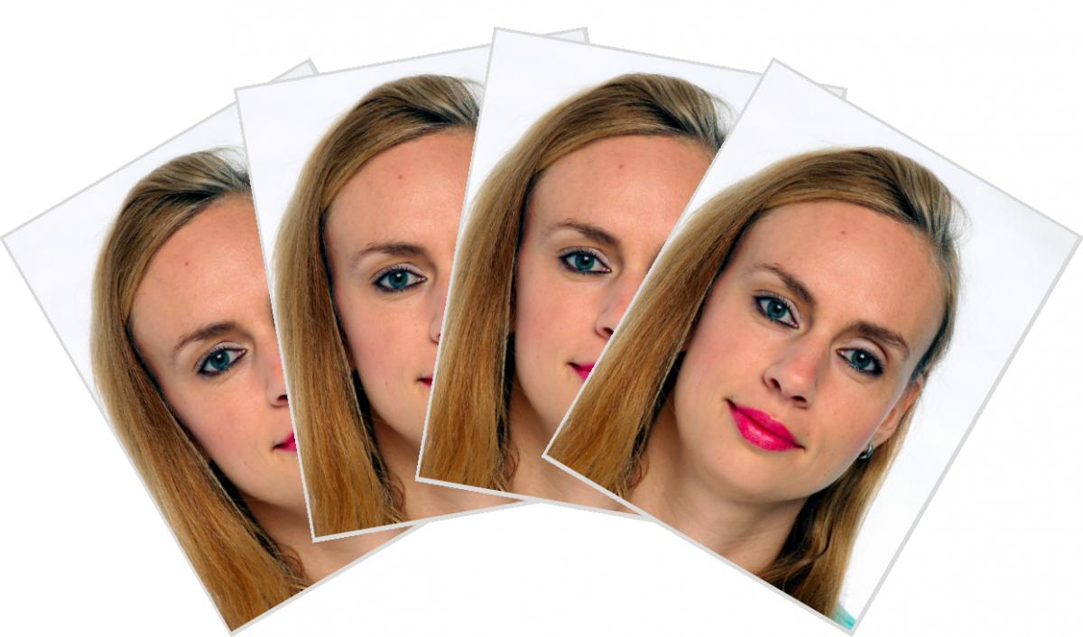 4 Images 35 x 45 mm for Biometric photo 35 x 45 mm Germany